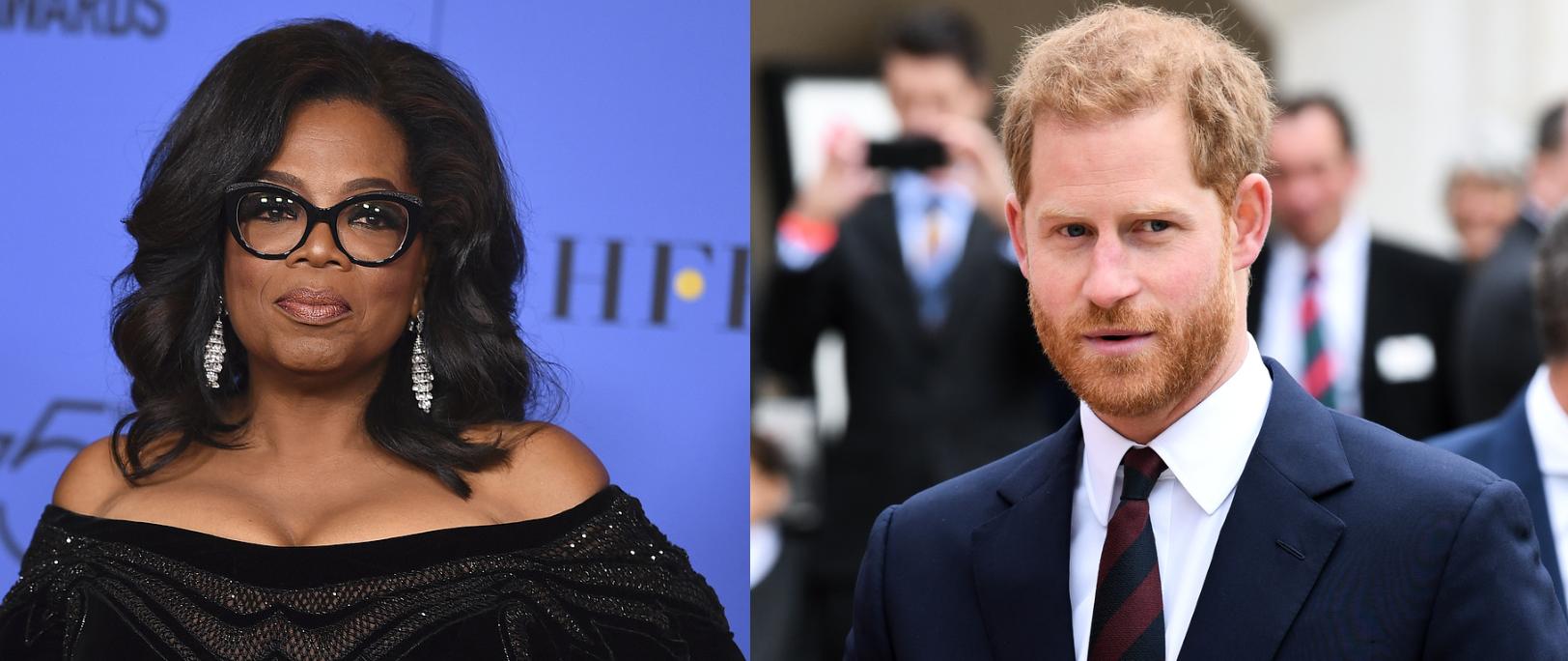 STOLT: Prins Harry (34) forteller at han er «veldig stolt» over å jobbe med dokumentarserien sammen med Oprah Winfrey (65).