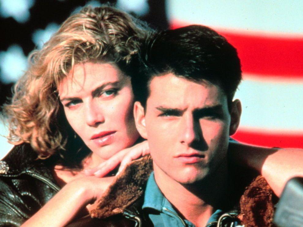 IKONISK: 30 år gamle «Top Gun», med Kelly McGillis og Tom Cruise i hovedrollene.