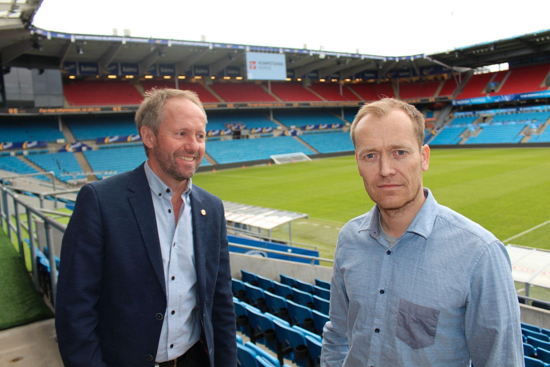 SENTRALE: NFFs generalsekretær Pål Bjerketvedt (t.v.) og direktør for kommunikasjon og samfunn, Svein Graff i NFF.
