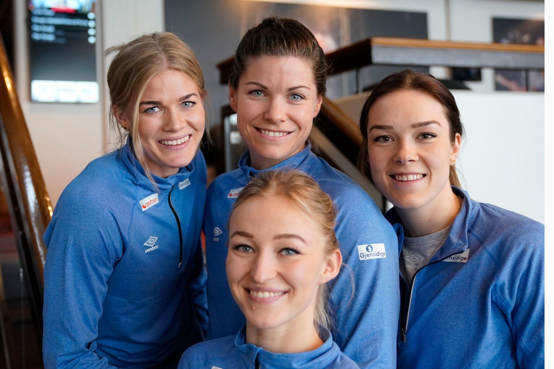 GYÖR-VENNINNER: Stine Bredal Oftedal (foran), Veronica Kristiansen (til venstre), Kari Aalvik Grimsbø og Kari Brattset blir alle lagvenninner sammen med Nora Mørk i Györ nesten sesong.