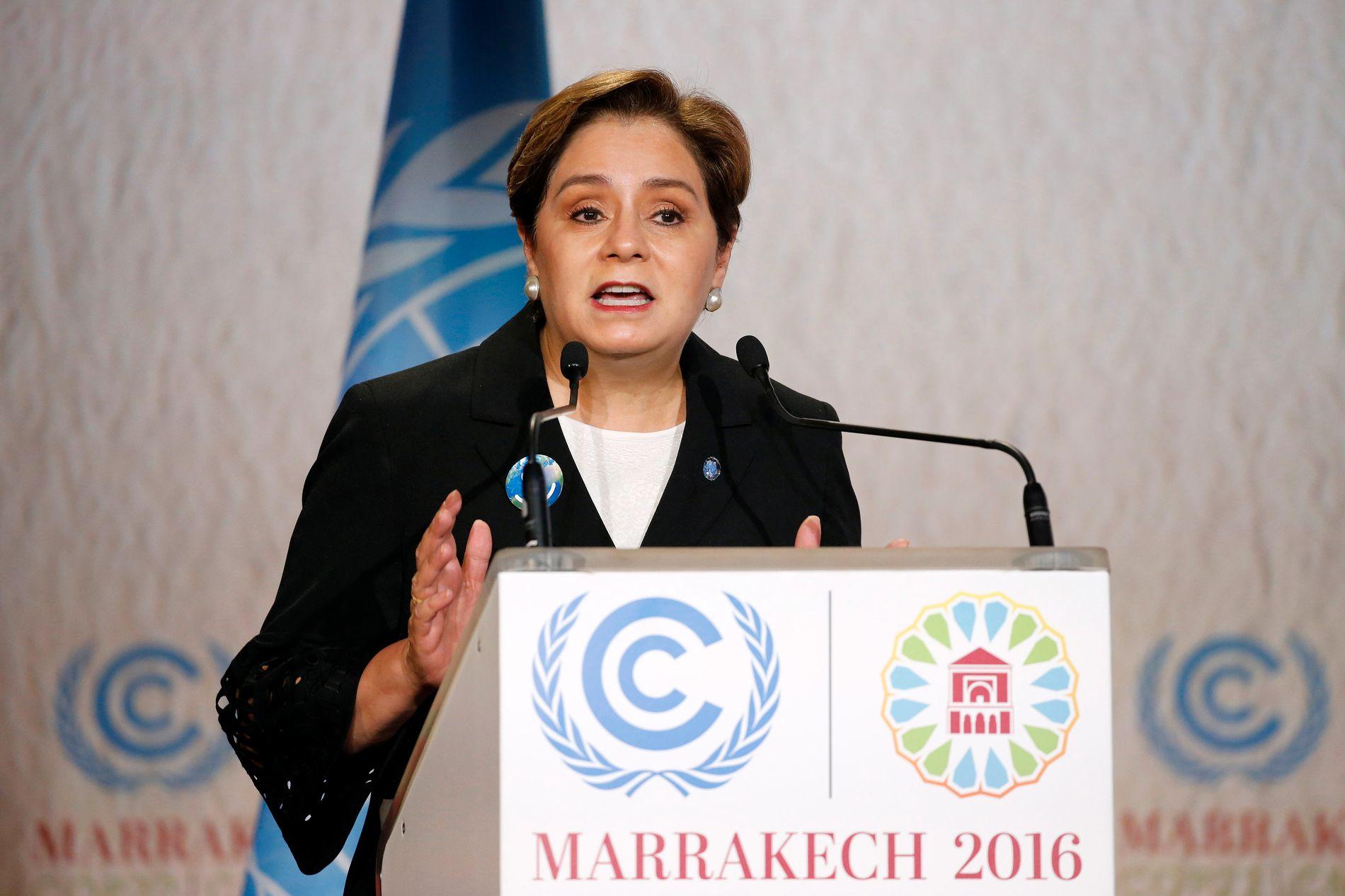 I GODT HUMØR: Det var en alvorlig, men konstant smilende Patricia Espinosa som besøkte Zerokonferansen i Oslo onsdag.