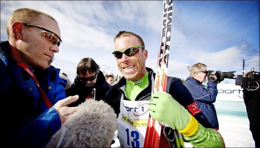 NAVNGIS I NY DOKUMENTAR: Anders Aukland, her etter Birkebeinerrennet i 2010, er den eneste norske utøveren som navngis i SVTs nye dokumentarfilm om doping i langrennssporten. Foto: Linn Cathrin Olsen