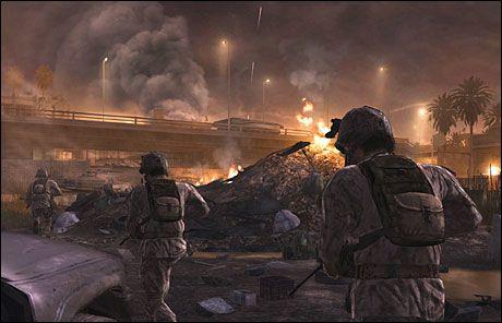 HEFTIG ACTION: «Call of Duty 4: Modern Warfare» ble kåret til fjorårets beste spill av den amerikanske spillindustrien. Foto: INFINITY WARD/ACTIVISION