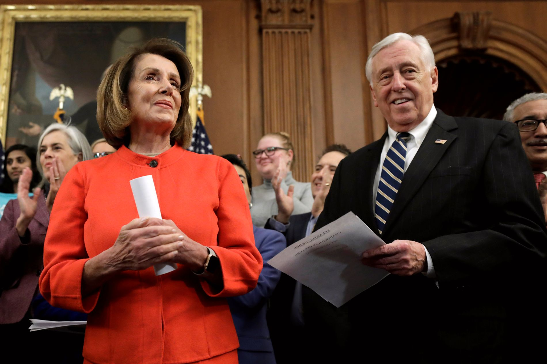 PARTITOPPER: Demokratene Nancy Pelosi og Steny Hoyer
