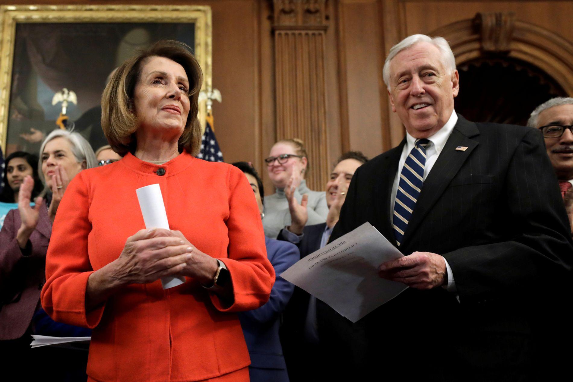 PARTITOPPER: Demokratene Nancy Pelosi og Steny Hoyer