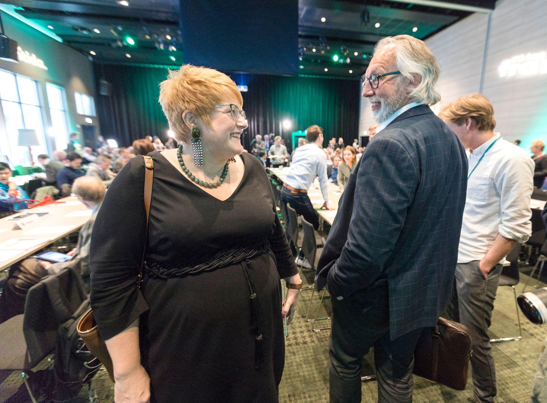 DELT: Stortingsrepresentant Carl-Erik Grimstad (t.h.) tilhører fløyen i Venstre som vil liberalisere norsk narkotikapolitikk. Det ønsker ikke partileder Trine Skei Grande.
