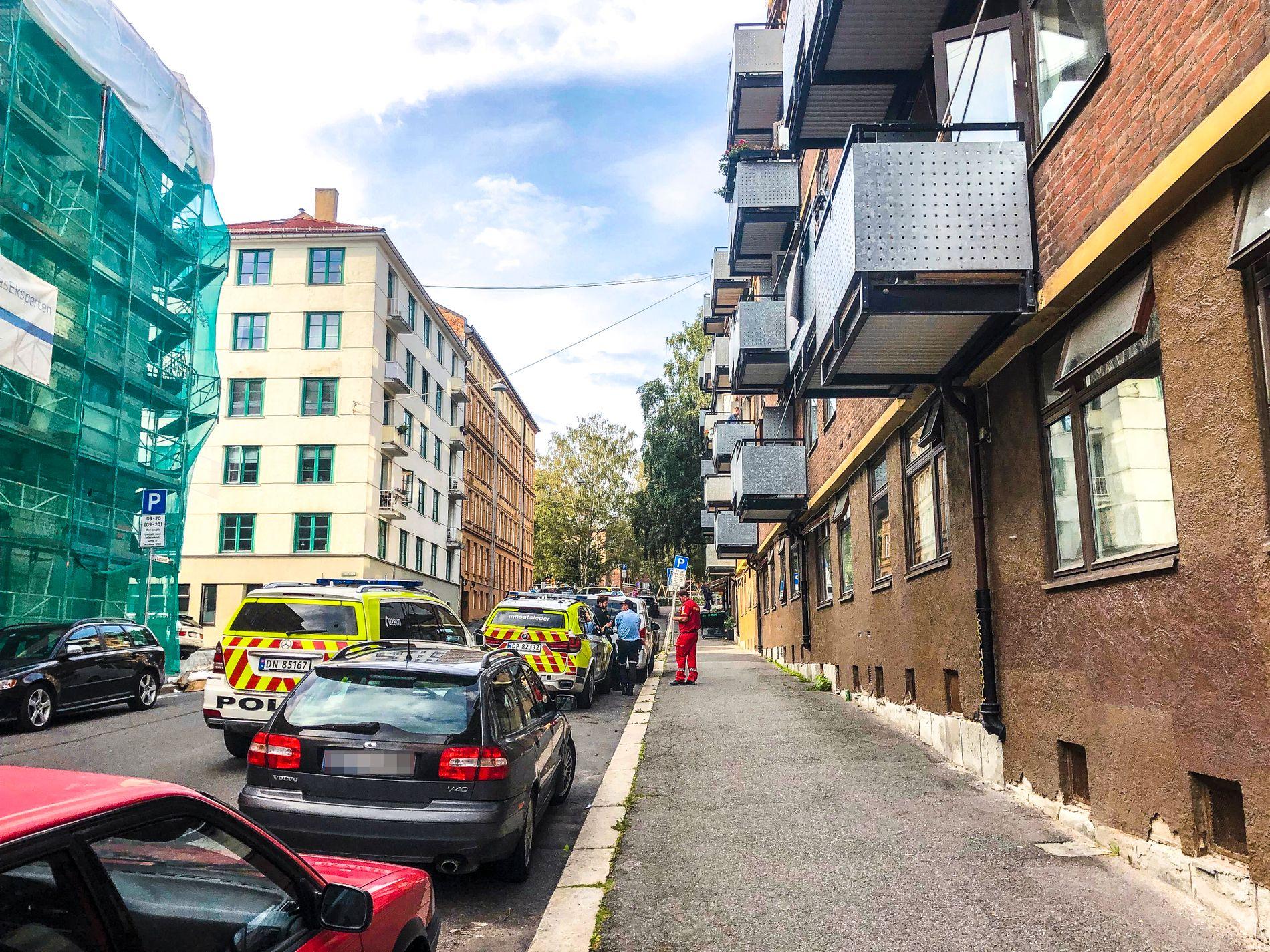 BALKONG: Skuddet skal ha blitt avfyrt fra en balkong i Christies gate i Oslo.