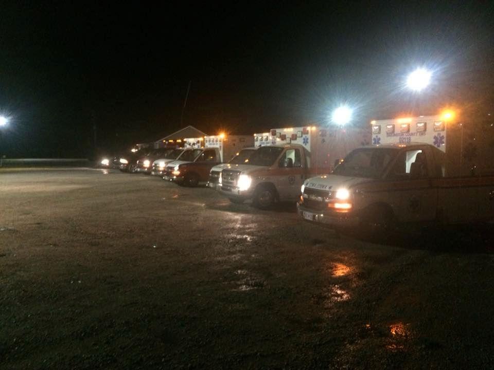FENGSELSSLAGSMÅL: Det lokale brannvesenet rykket ut til Lee Correctional Institution natt til mandag da flere innsatte havnet i slagsmål i South Carolina.