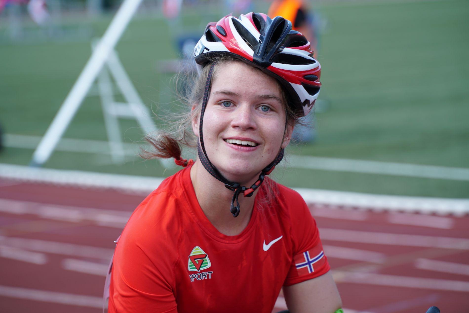 TO DØGN UTEN STOL: Helgen ble ødelagt for Marie Aune Bardal da Widerøe rotet bort rullestolen. Her er hun på et annet løp.
