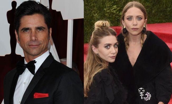 DÅRLIG TONE: John Stamos, her avbildet på en galla i Hollywood i februar i år. Bildet av Ashley og Mary-Kate Olsen er fra et arrangement i New York tidligere denne måneden.