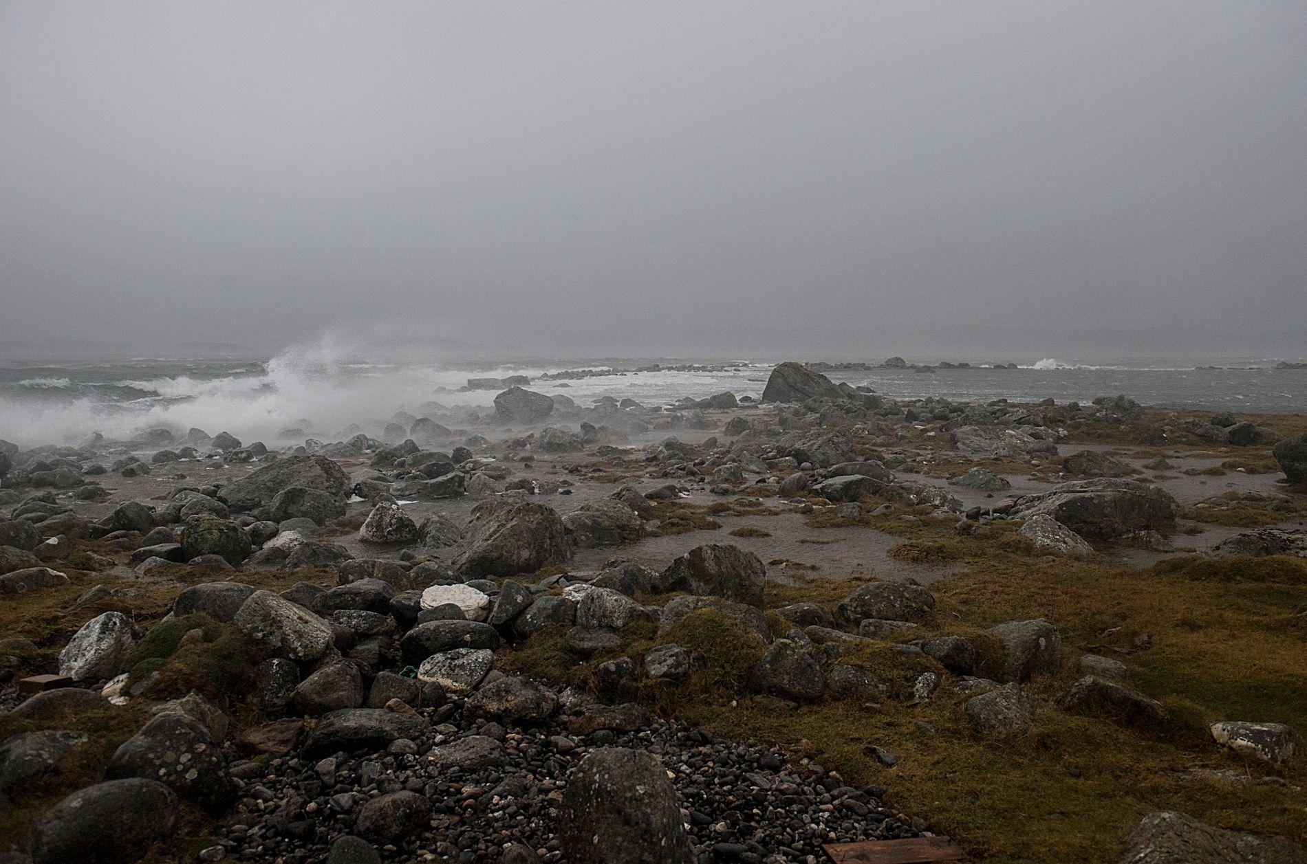 UVÆR: Det blir vått og luftig på Vestlandet torsdag.