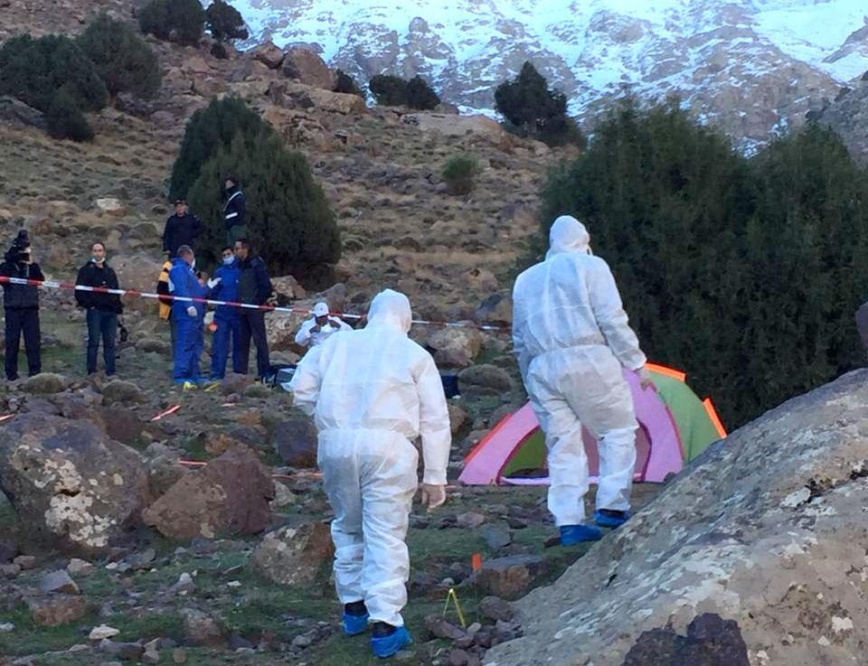 I FJELLHEIMEN: Maren Ueland (28) og danske Louisa Vesterager Jespersen (24) ble funnet drept i Atlas-fjellene.