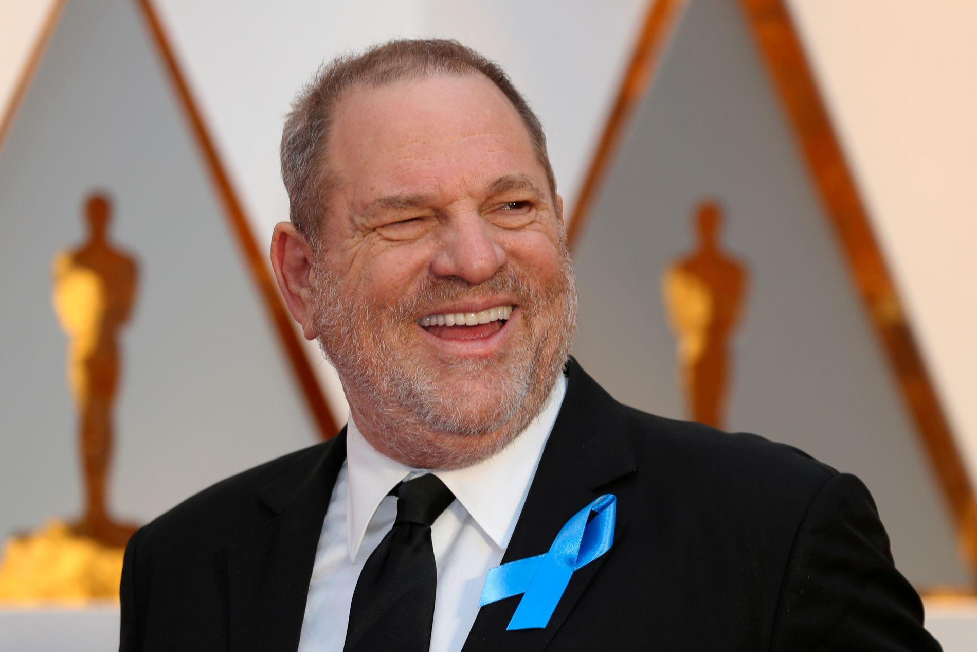 I HARDT VÆR: Harvey Weinstein, her på Oscar-utdelingen i Hollywood 26. februar.