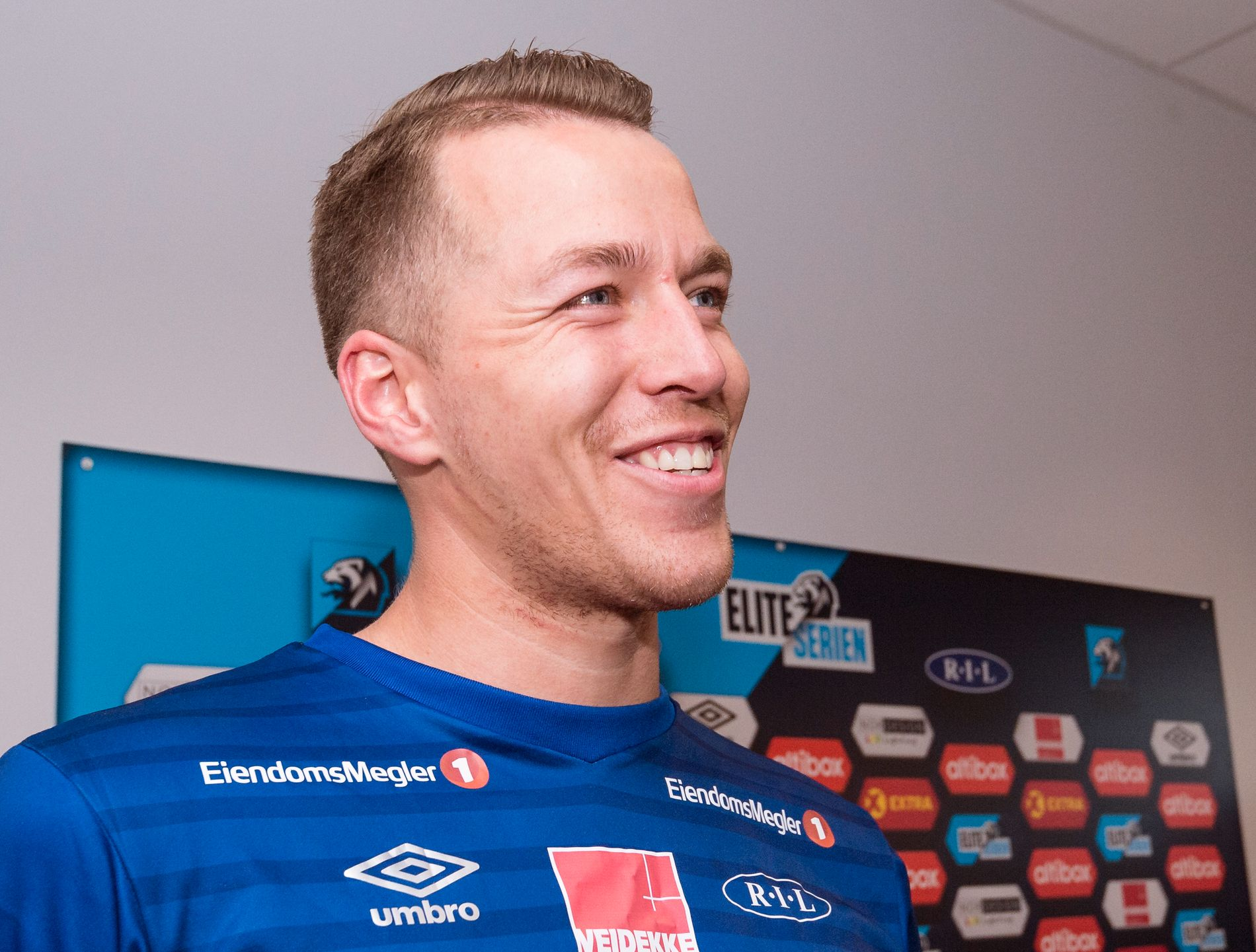 Ranheims spiss, Michael Karlsen, er offensiv før møtet med Rosenborg.