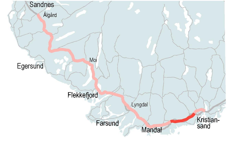 4,5 MILLIARDER: Det er verdien på kontrakten for å bygge ny firefelts motorvei mellom Mandal og Kristiansand.