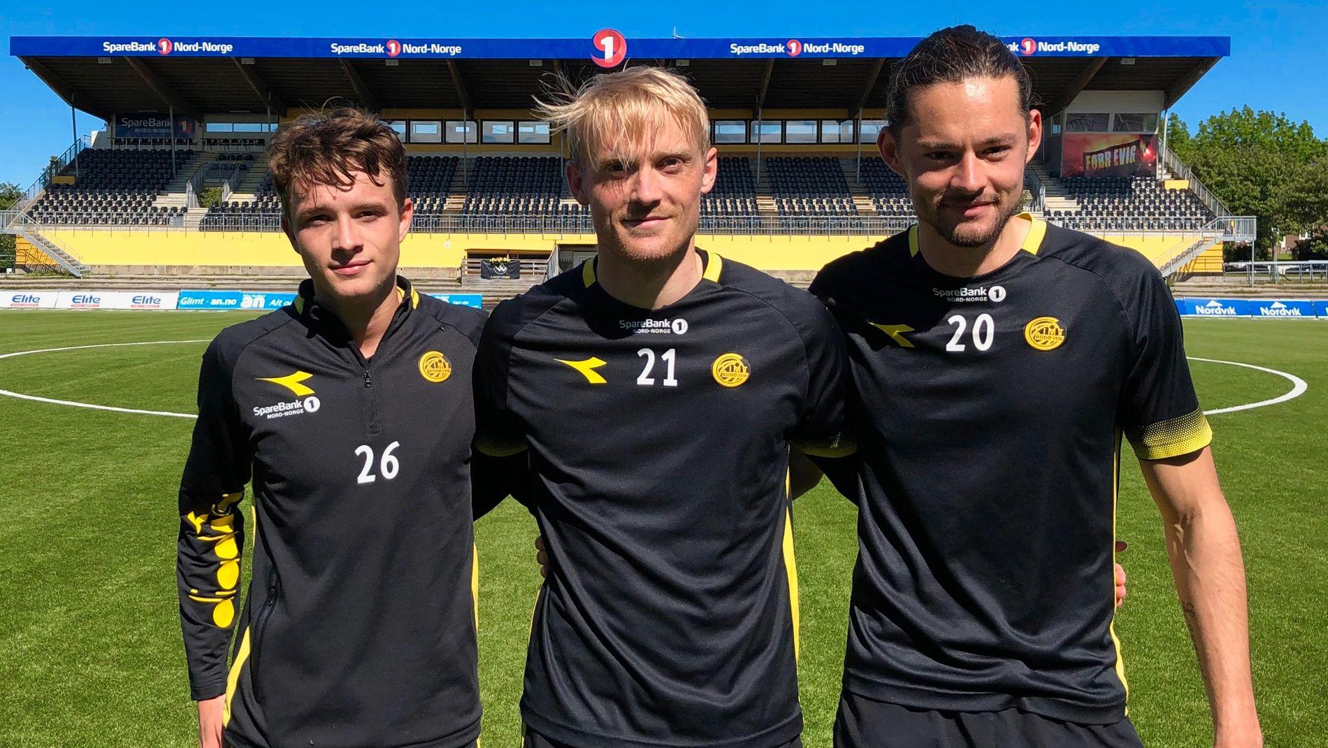 ASPMYRAS KONGER: Håkon Evjen (til venstre), Geir André Herrem og Amor Layouni har hatt en svært god start på sesongen. Fredag venter Vålerenga i Oslo.