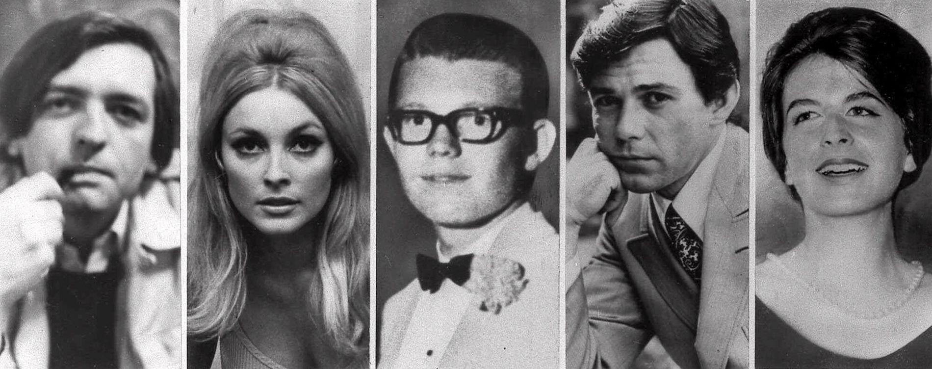OFRENE: F.v. Voityck Frykowski, Sharon Tate, Stephen Parent, Jay Sebring og Abigail Folger ble alle drept rundt midnatt 9. august 1969.