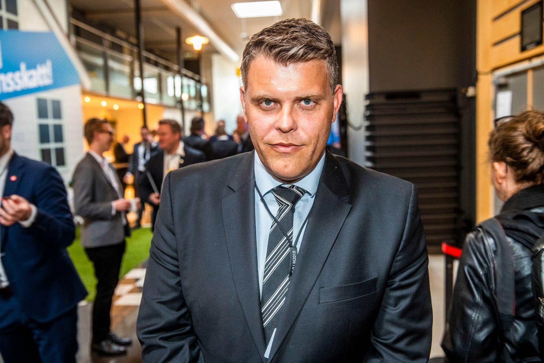 PÅ LANDSMØTE: Frps nye justisminister, Jøran Kallmyr fotografert på Frp-landsmøtet på Gardermoen sist helg.