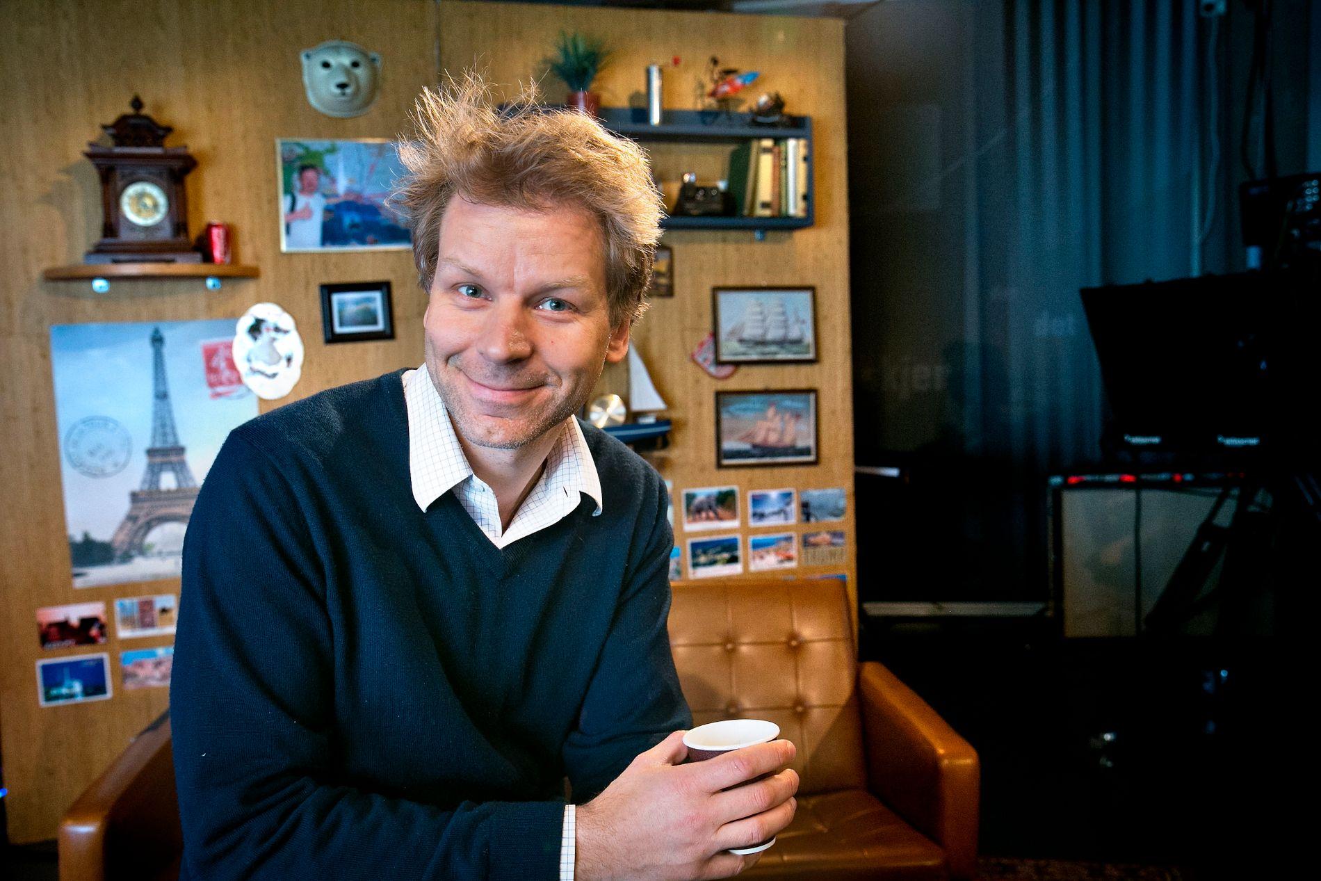 TILBAKE: Flere versjoner av Espen Eckbo blir å se på skjermen i høst. Her er han avbildet i forbindelse med innspilling av «Tørnquist Show» på VGTV i 2013.