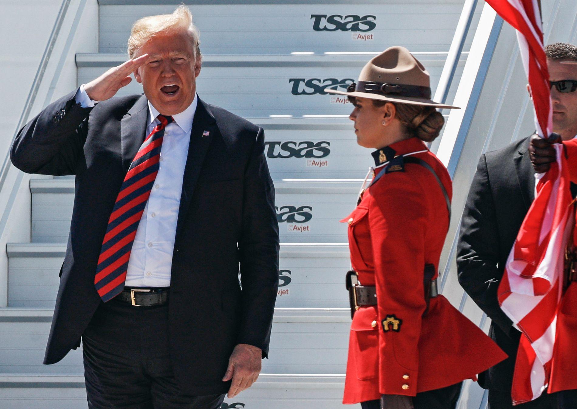 PRESIDENT: USAs Donald Trump mener Russland og Vladimir Putin burde vært invitert til Canada denne helgen.