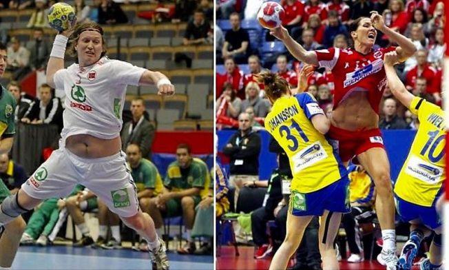 SAMMENLIGNET: VGs bilde av Frank Løke fra VM 2011 og Gro Hammerseng-Edin fra EM 2010. Løke sier at sammenligningen var med på å få ham til å gå ned i vekt.