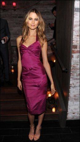 HANS UTKÅREDE: Her er Levine's forlovede, Behati Prinsloo, på etterfesten til Victoria's Secrets show i New York for en uke siden. Foto: AFP