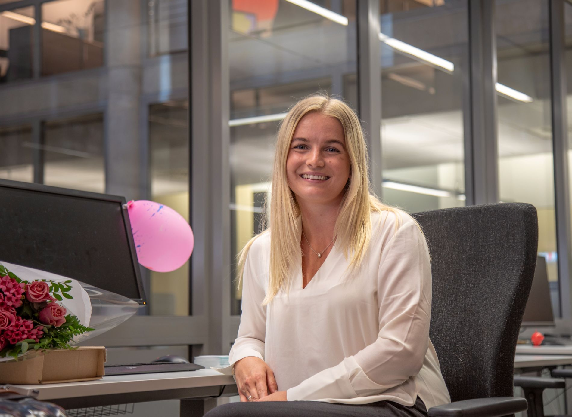 TOPPJOBB: Zelia Johansen Moss jobber som konsernsjef i Adecco i august.