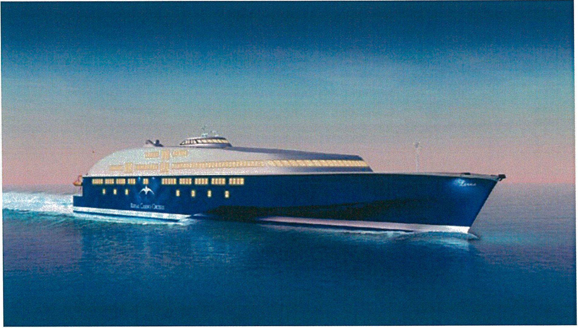Bildet er fra et prospekt den fengselsdømte 69-åringen laget for selskapet RC Cruises Ltd, som skulle stå for byggingen av et cruiseskrip. Prosjektet var ifølge retten tilnærmet uten verdi.