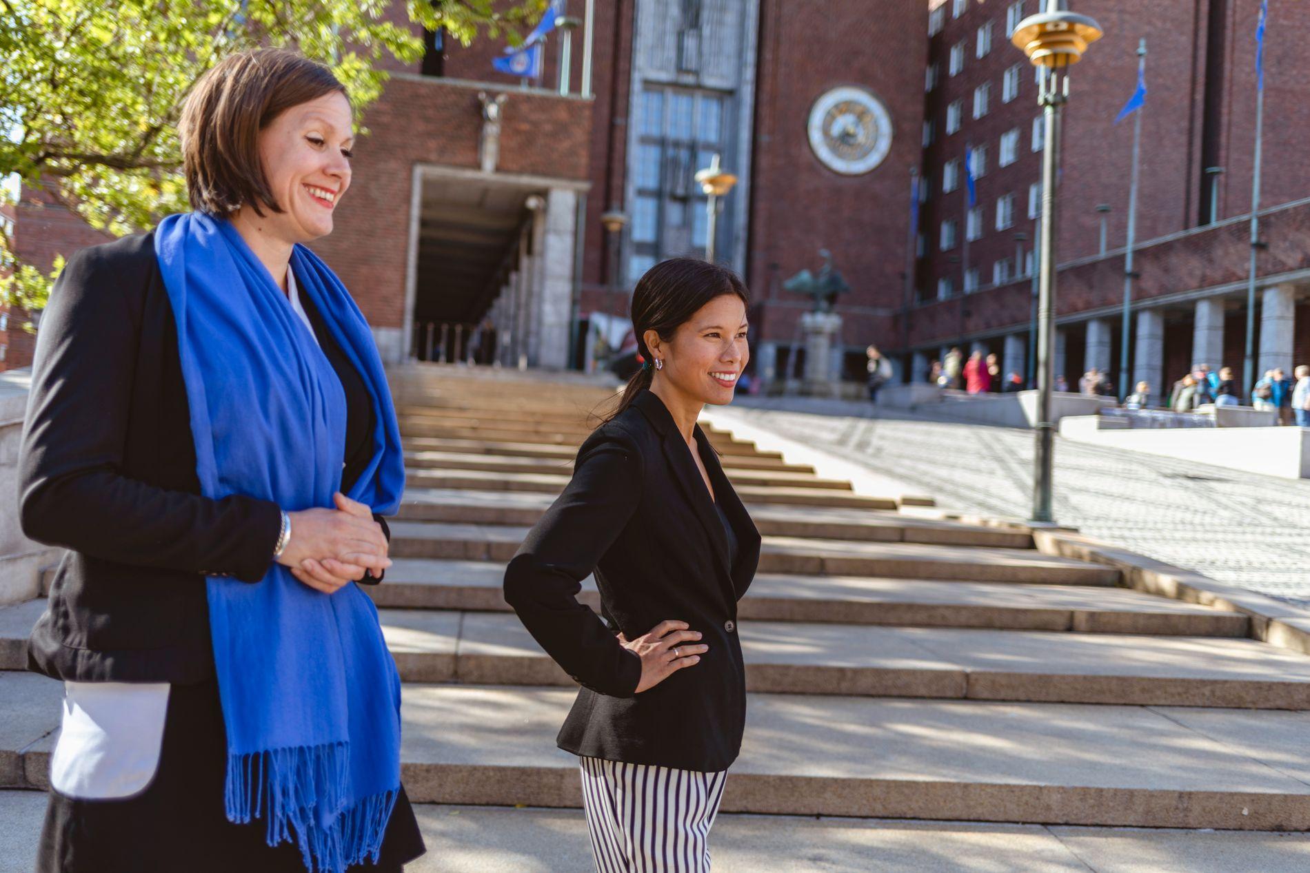 FORTSETTER KAMPEN: MDGs listetopper Lan Marie Nguyen Berg og Hanna Marcussen vil gire opp tempoet når det kommer til det utbyggingen av veinettet.