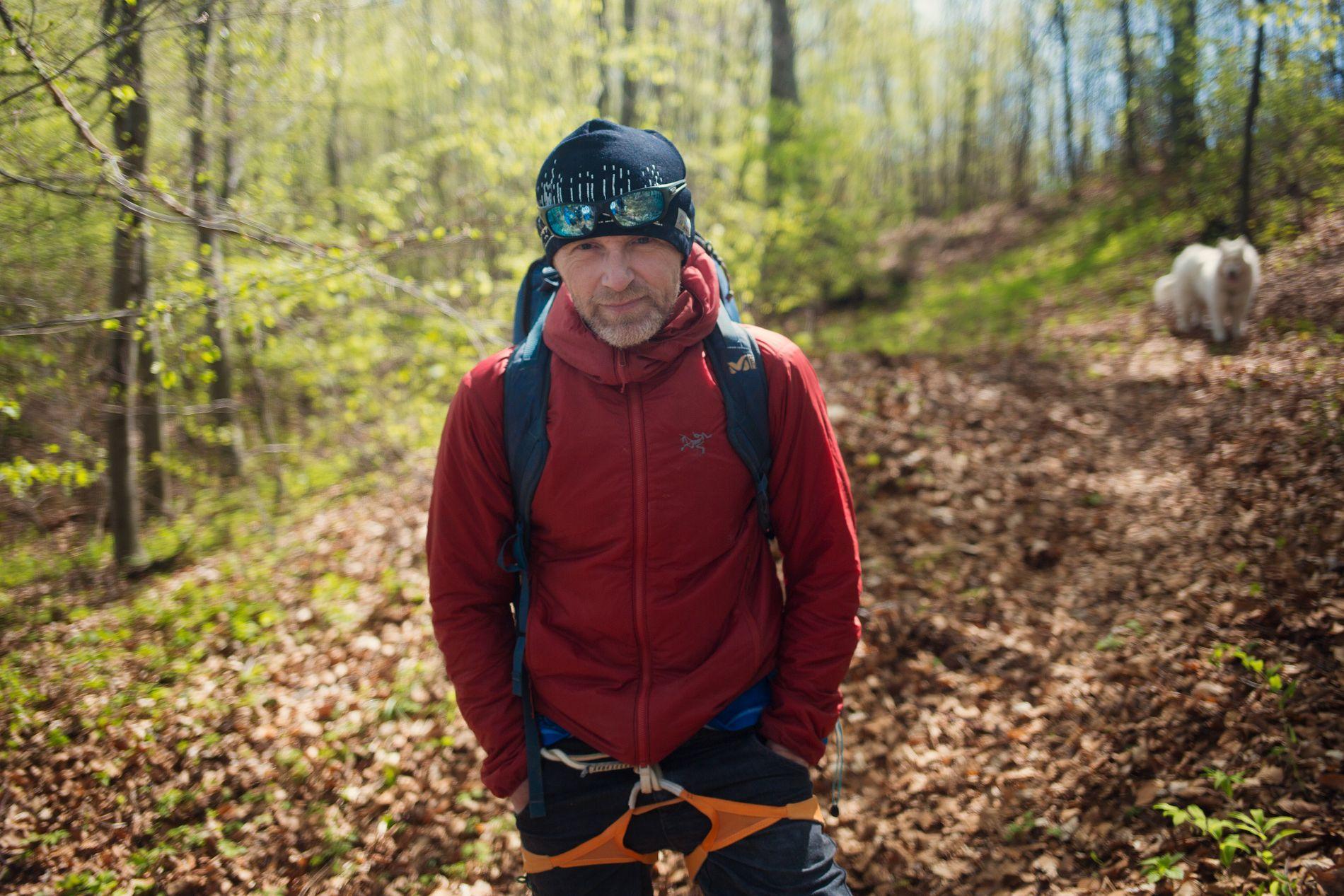 KAPRET ROLLE: Jo Nesbø, her i Krakow på klatretur før helgen, er kjent for sine mange talenter. Nå blir han også «skuespiller».