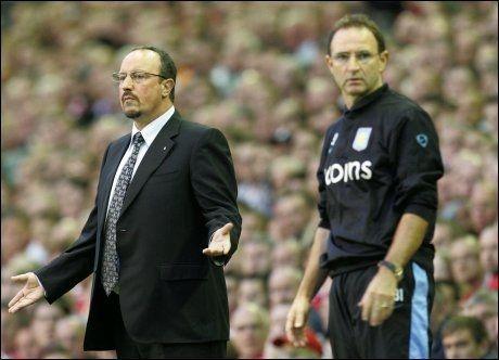 HARDT PRESSET: Rafael Benitez' Liverpool måtte gi tapt for Martin O'Neill og Aston Villa. Foto: AP