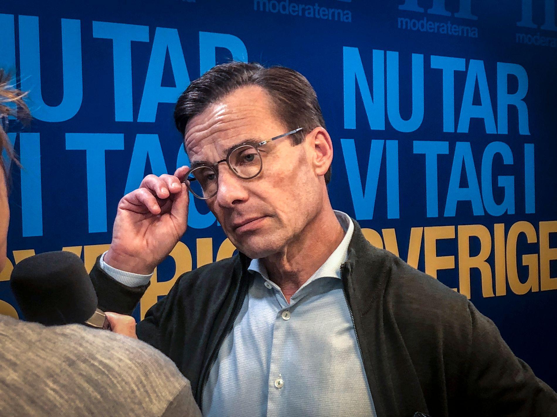 STATSMINISTERKANDIDAT: Moderaternas partileder Ulf Kristersson er den svenske valgkampens hovedutfordrer.