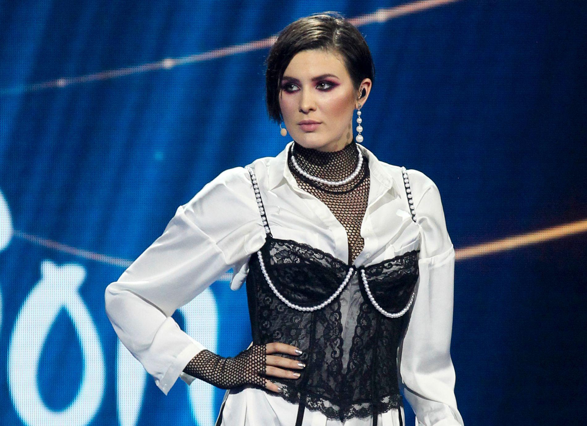 NEKTER: Anna Korsun, som opptrer under artistnavnet Maruv, vant den nasjonale finalen i Ukraina tidligere i år. Nå har hun trukket seg.