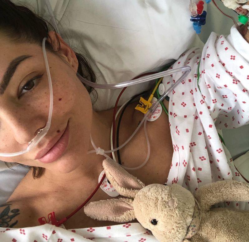 ALVORLIG ULYKKE: Triana Iglesias ble fløyet til Ullevål sykehus etter ulykken i juni. VG har fått tillatelse til å gjengi bildet, som Triana selv la ut på Instagram etter ulykken.