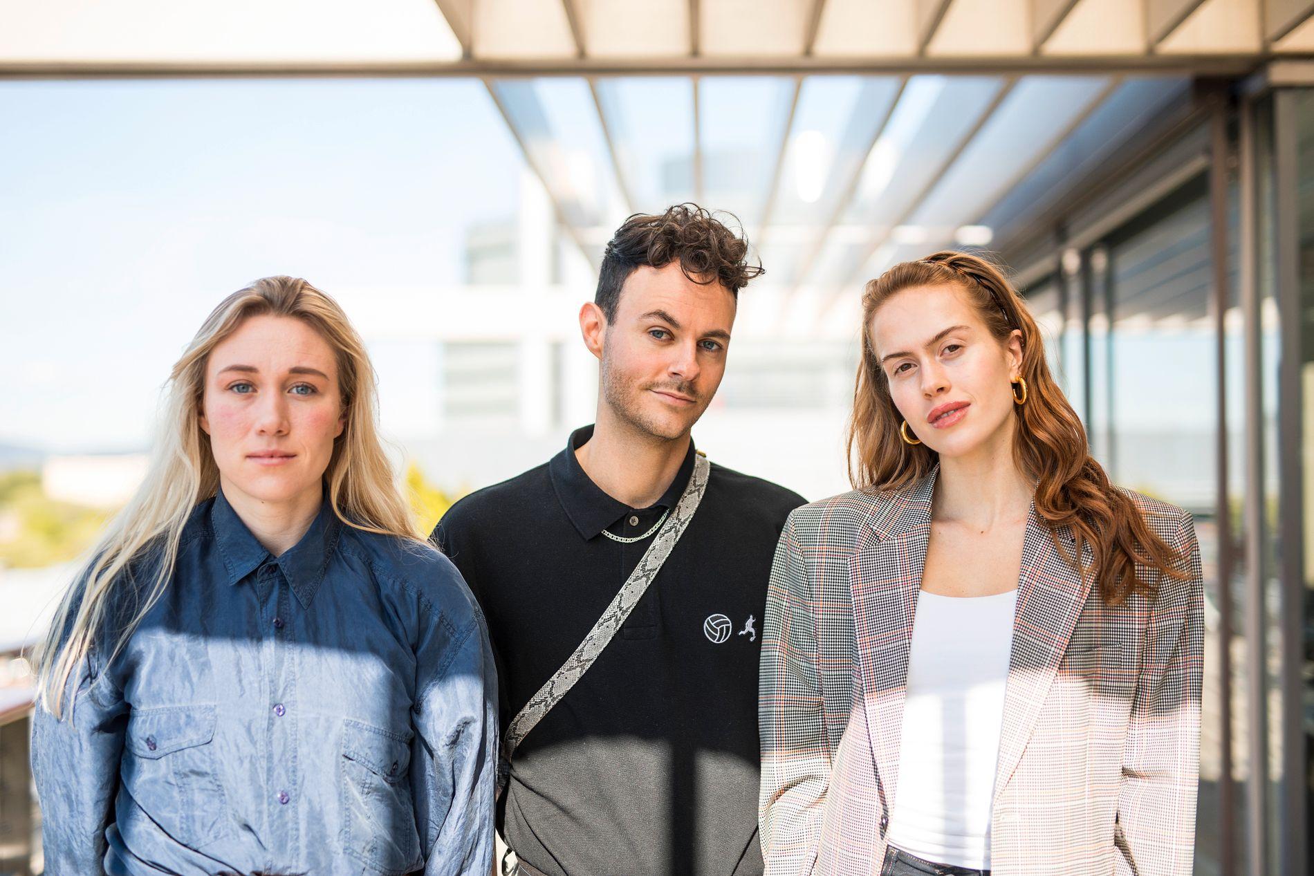 PROFILER: Maria Stavang (f.v.), Gisle Agledahl og Kristine Ullebø på besøk i VG-huset onsdag denne uken – nylig hjemkommet fra Istanbul.