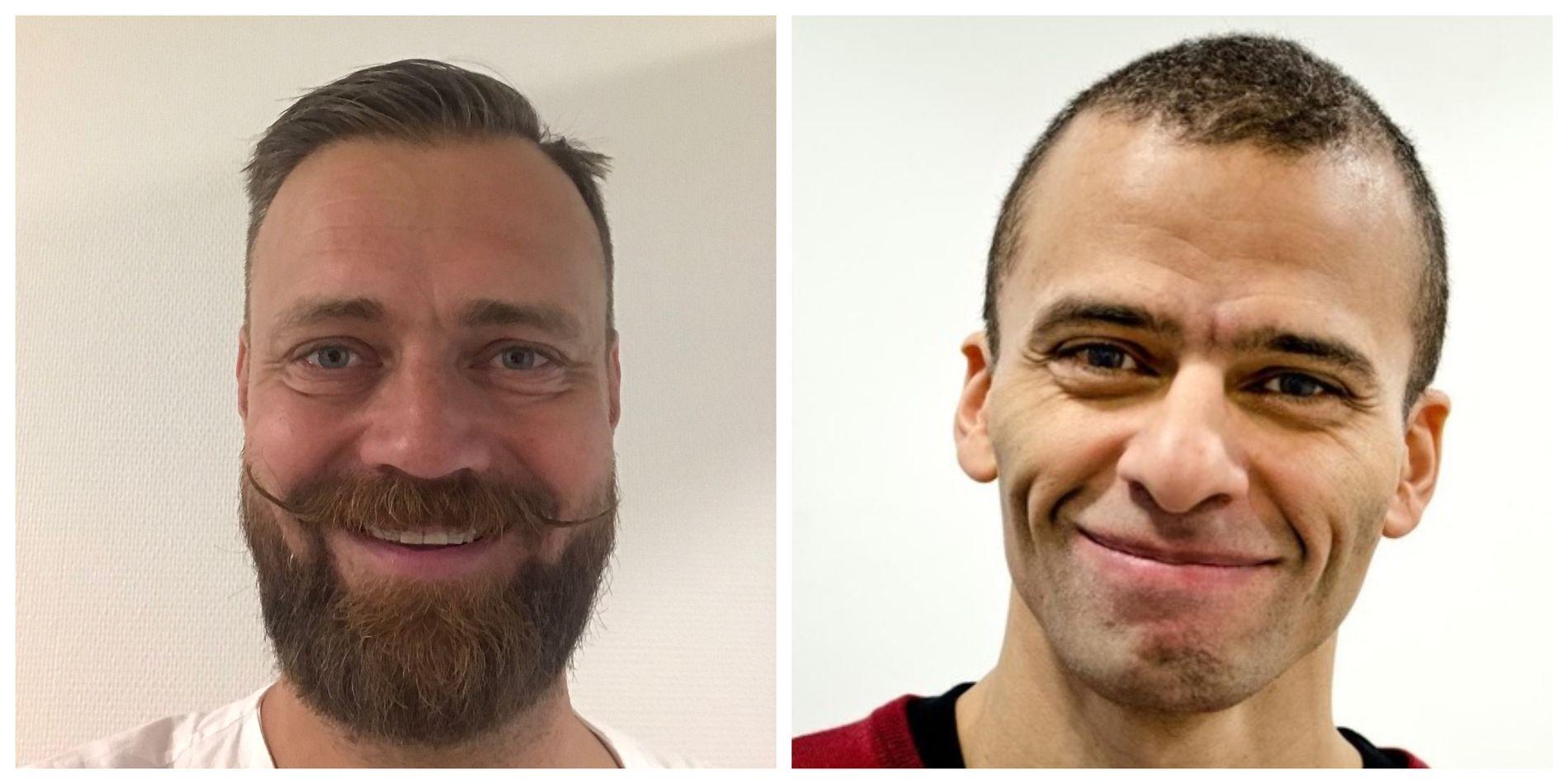 Thorbjørn Brook Steen og Patji Alnæs-Katjavivi er overleger ved fødeavdelingen OUS.