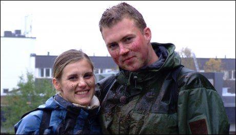 FANT LYKKEN: Tore Jardar Johannesen og Michelle Skjønsholt fant kjærligheten på TV, og er idag godt gift. Foto: Privat