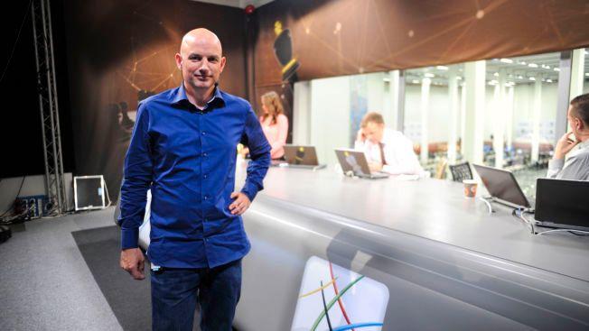 SJAKKEKSPERT: Atle Grønn under NRKs sendinger fra sjakk-OL i Tromsø i 2014.