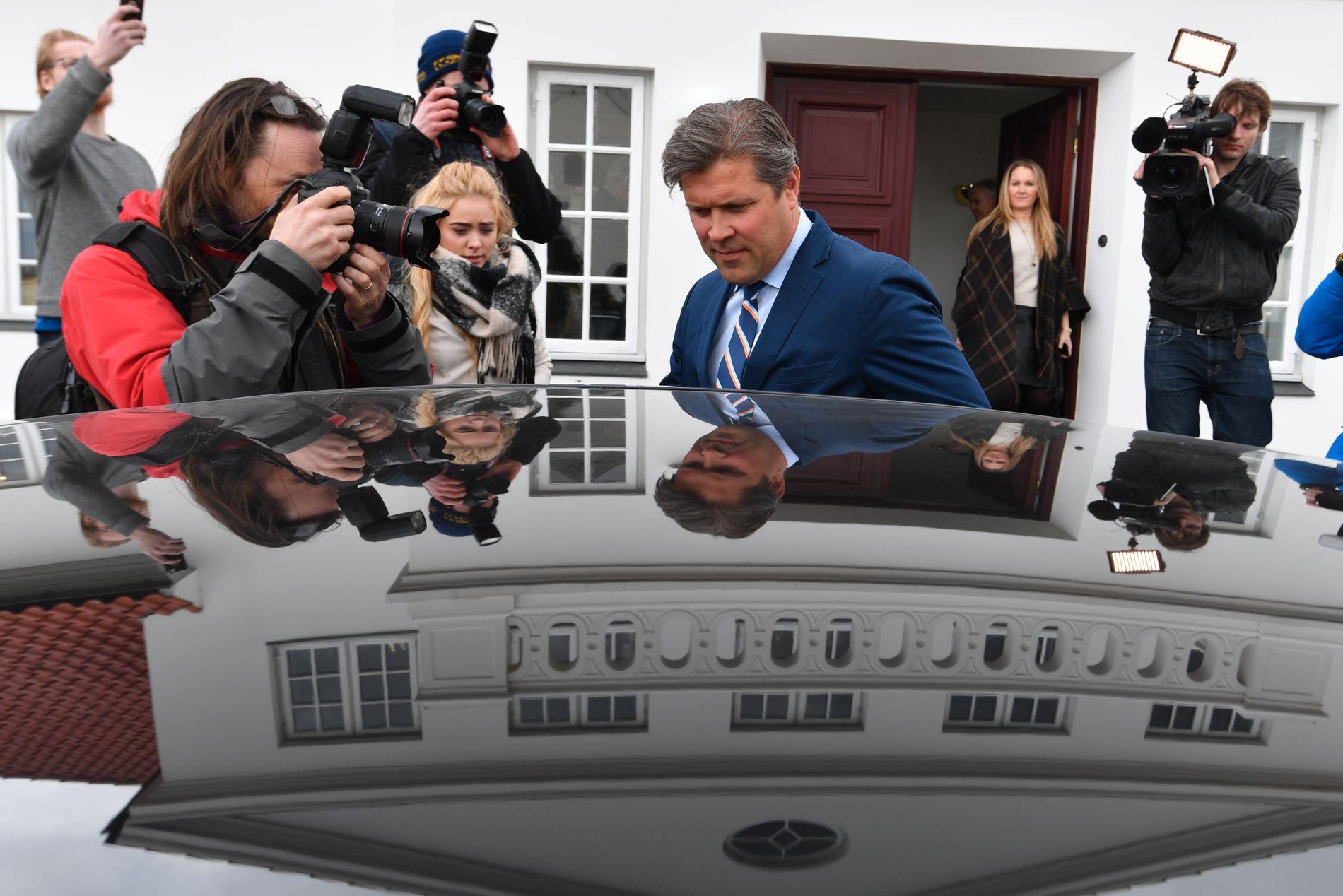 VET IKKE HVA SOM SKJER: Finansminister Bjarni Benediktsson sier til VG at det foreløpig ikke er avklart hvem som tar over som statsminister på Island.