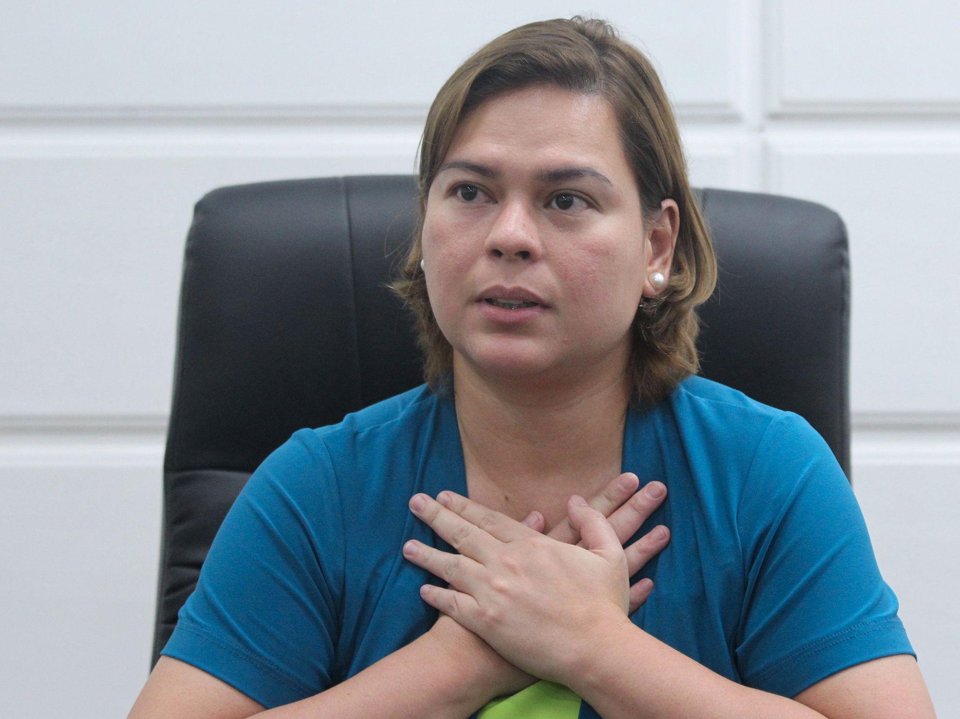 NY PRESIDENT? Ordføreren i den filipinske byen Davao, Sara Duterte er eldste datter til president Rodrigo Duterte. Foto: REUTERS