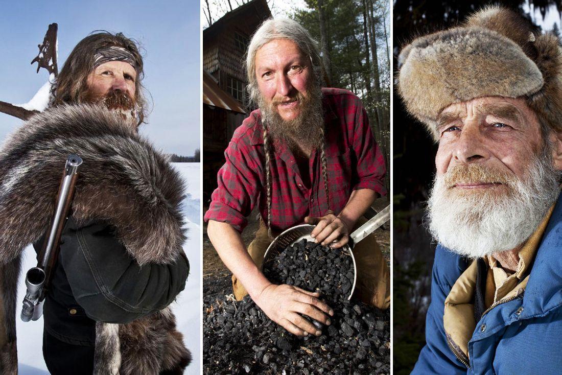 KAMP: Profiler som Tom, Eustace og Marty kjemper for å få endene til å møtes i «Ødemarkens menn». Men virkeligheten er ikke helt som på TV.