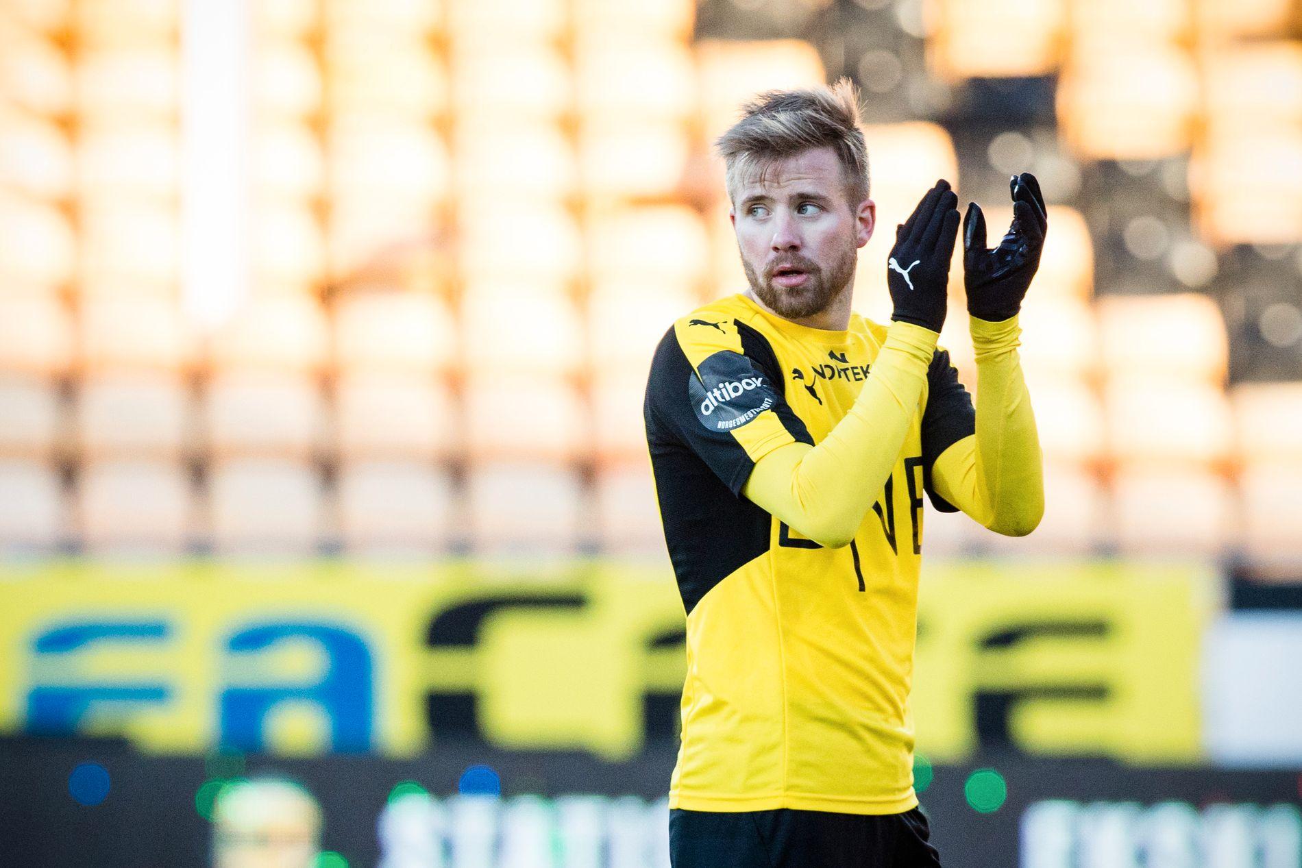 POPULÆR MANN: Simen Rafn, her fra 2–2-kampen mot Sarpsborg 08 tidligere i år.
