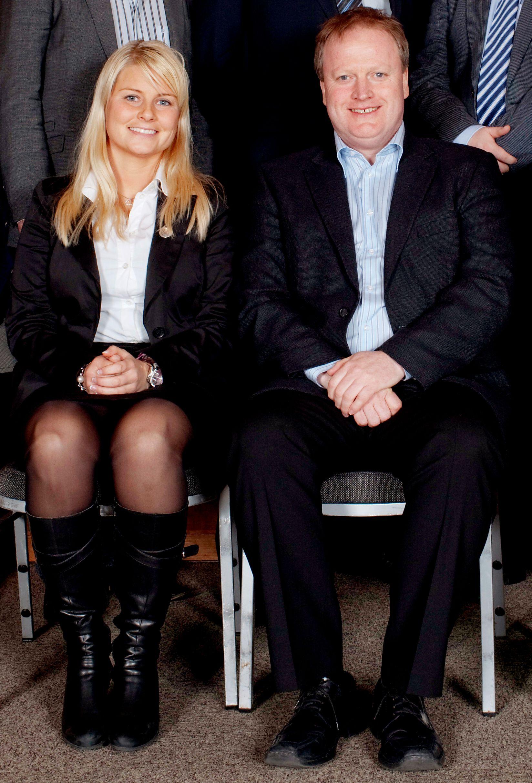 VAR UENIGE: Nyutnevnte visepresident i NFF, Hege Leirfall, sammen med Yngve Hallén i 2010.