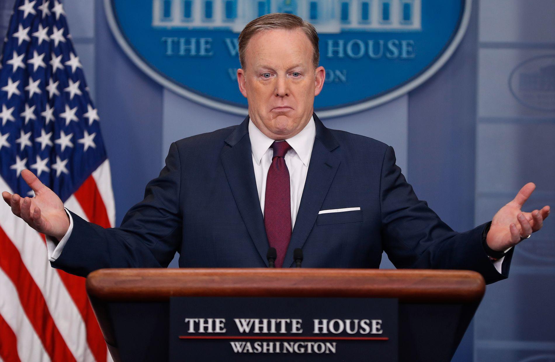 UTE: Sean Spicer vil ikke lenger holde pressebriefer i Det hvite hus.