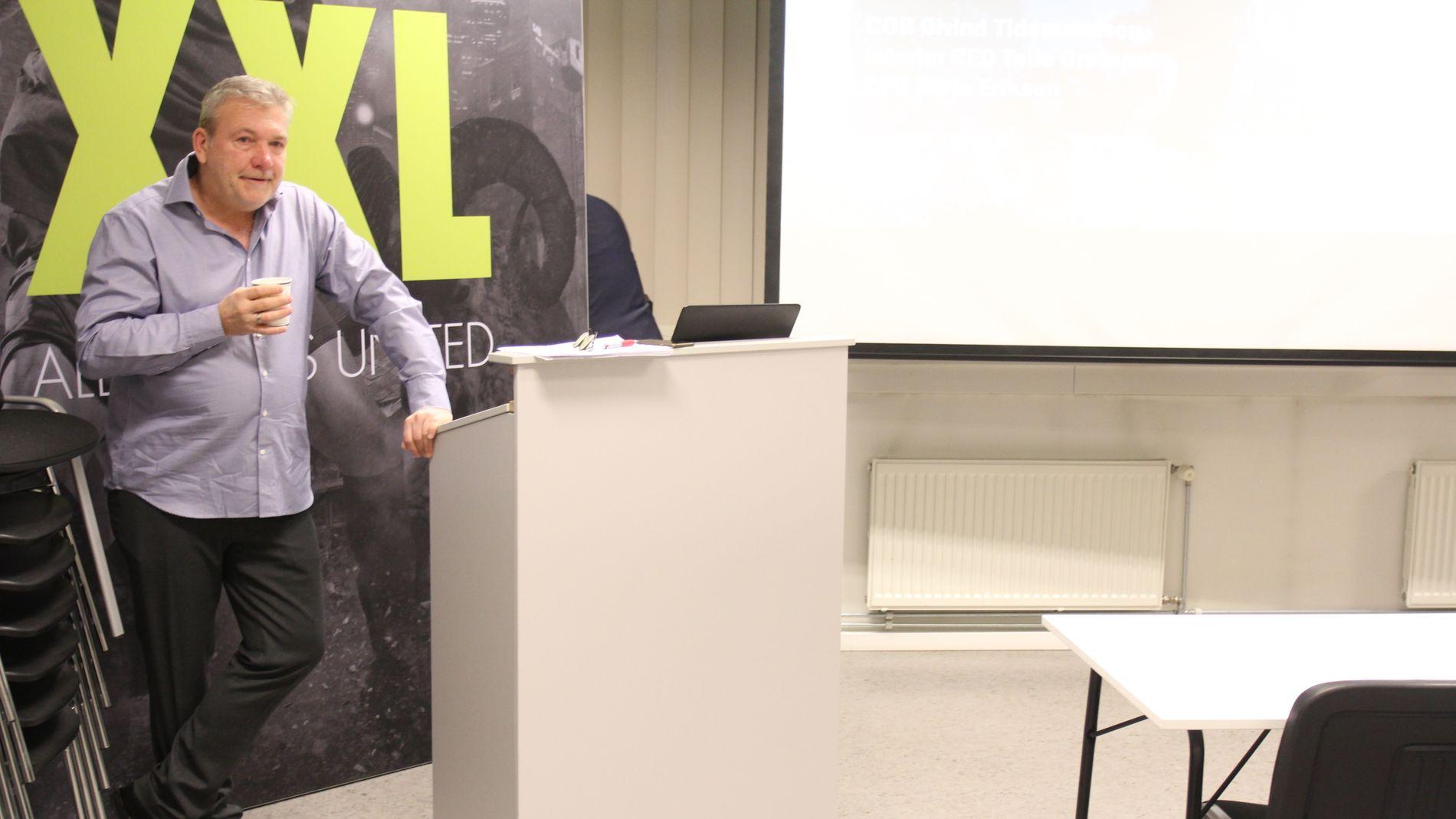 MER ANSVAR: Styreleder, storeier og grunnlegger Øivind Tidemandsen i XXL tar nå over den daglige driften av sportskjeden.