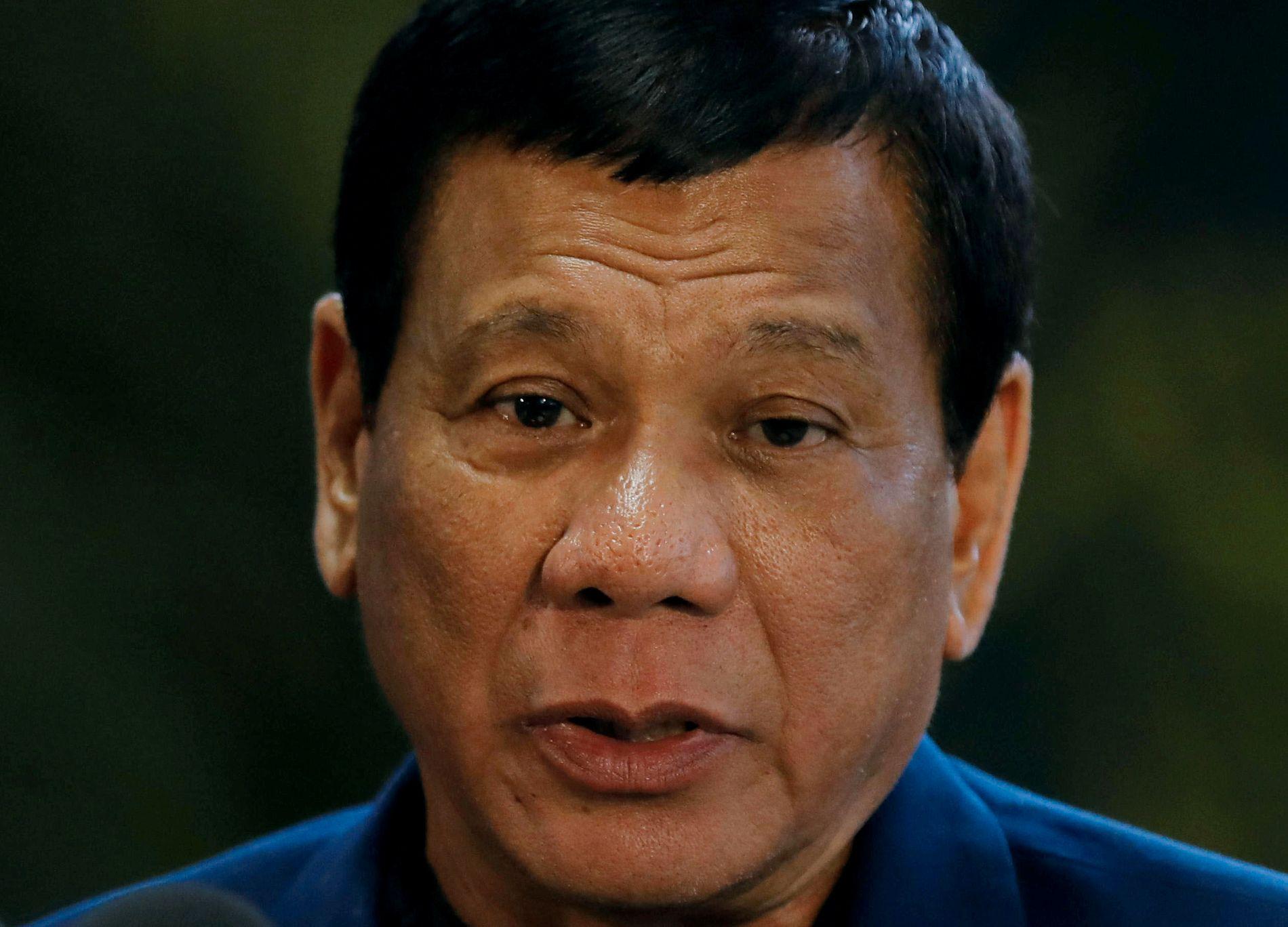 RETT FREM: Filippinenes president Rodrigo Duterte har blitt kjent for sin frittalende omtale av andre statsledere.