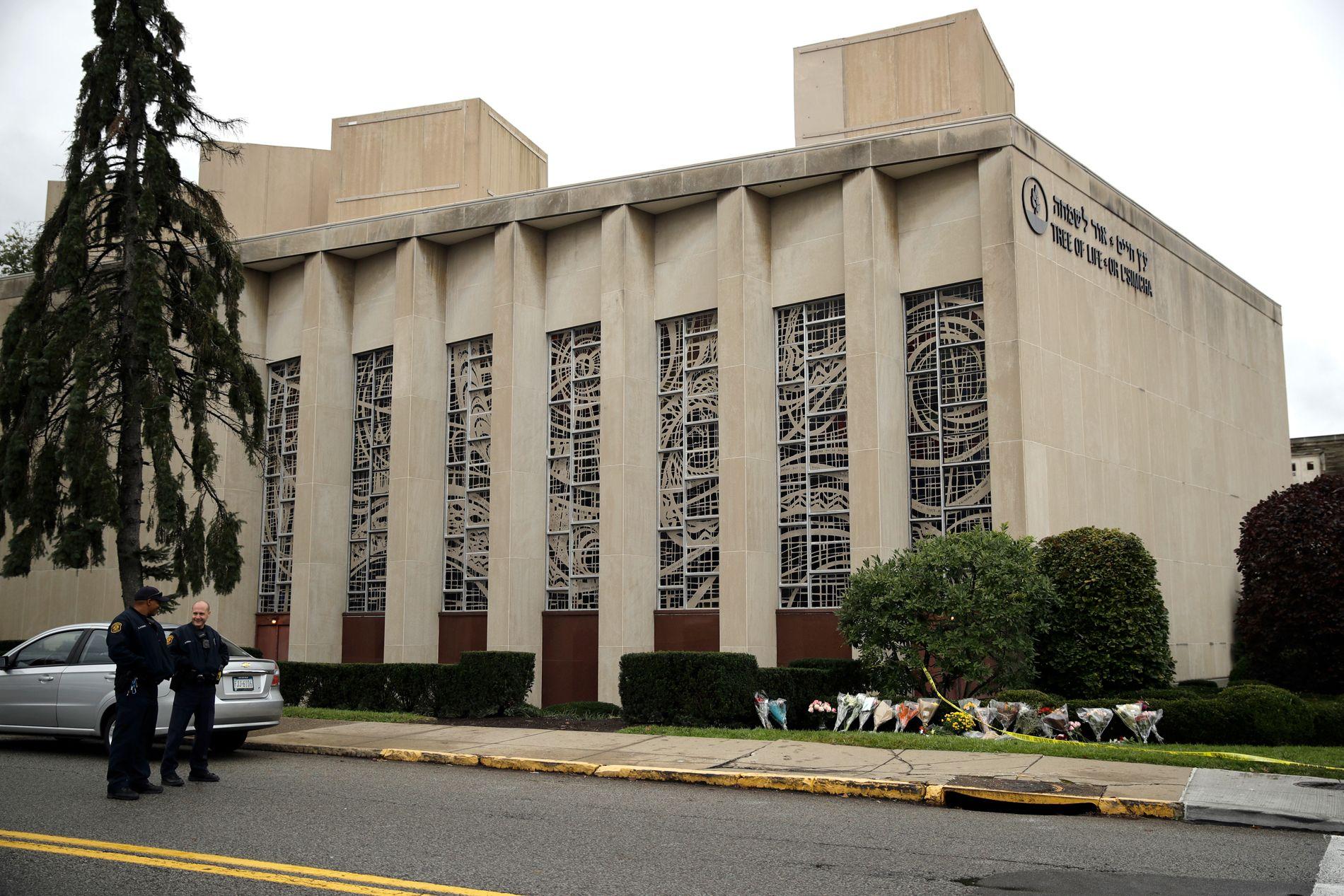 ÅSTED: Synagogen Tree of Life utenfor Pittsburgh var åsted for lørdagens massakre.