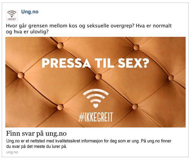 FOR SEKSUELL? Facebook mener denne annonsen er uakseptabel.