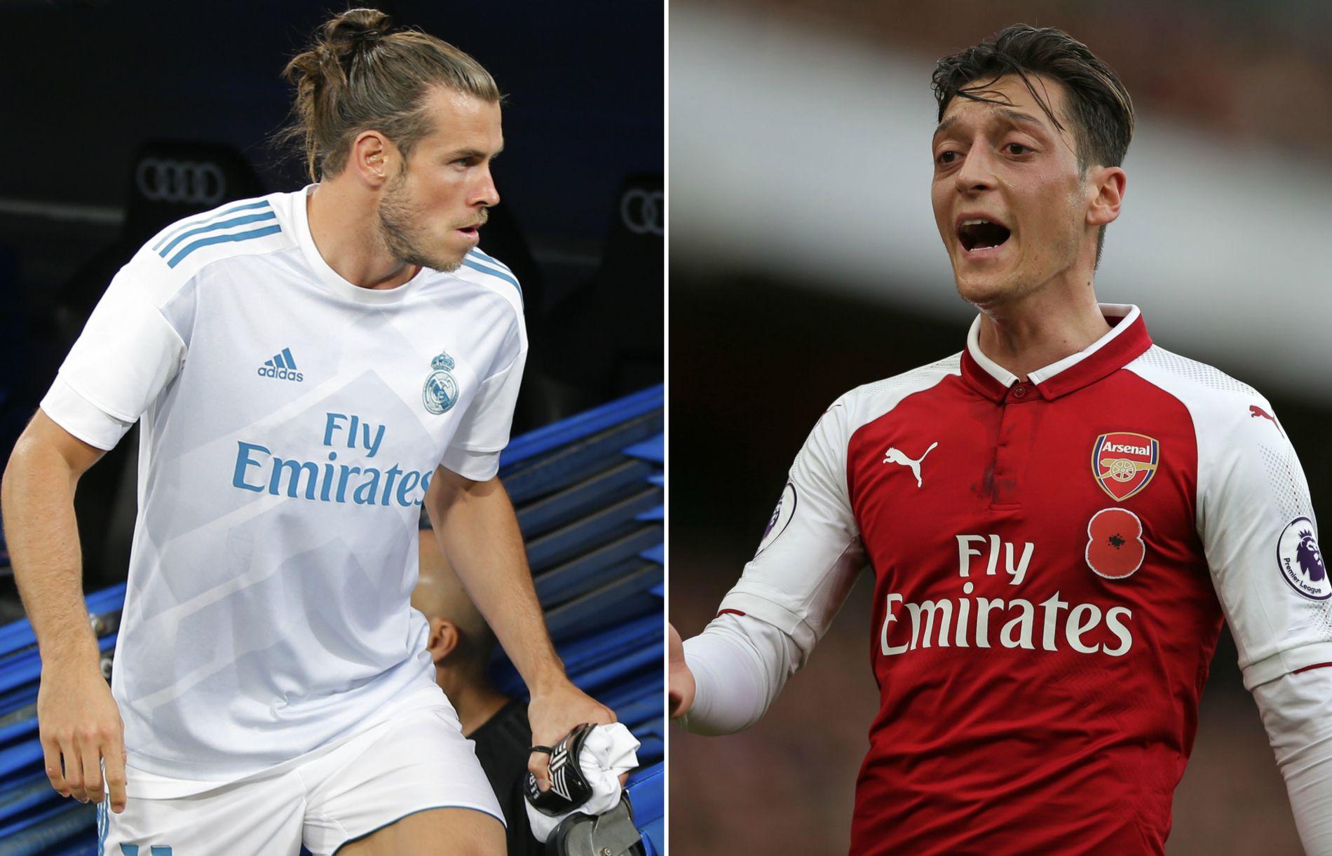 ØNSKET AV MOURINHO: Gareth Bale (t.v.) og Mesut Özil skal være på ønskelisten til Manchester United.