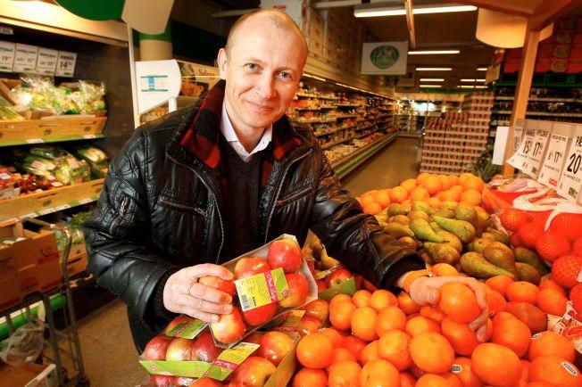MISFORNØYD: Guttorm Rebnes, direktør for oplysningskontoret for frukt og grønnsaker skulle gjerne hatt mer penger å rutte med for å få folk til å spise sunnere.